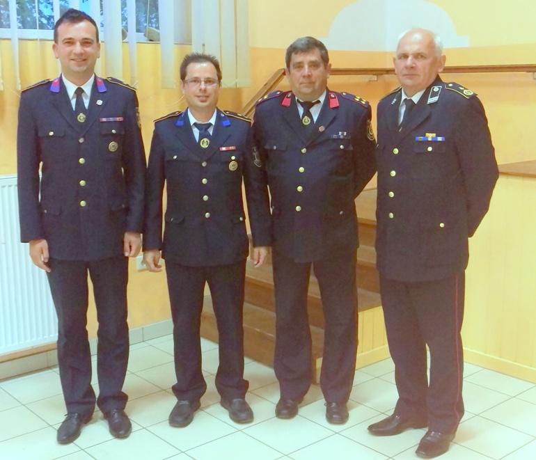 Zapovjednik Mihael Grbavec, predsjednik Marko Strojko, tajnik Kozar Stjepan za tajnikom VZMŽ Dragutinom Trupkovićem