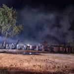 Požar drvenih baraka u Čakovcu (6/2021)